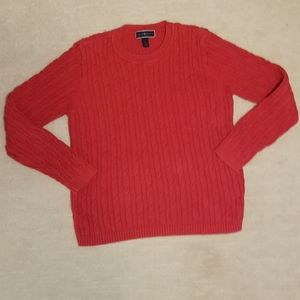 Karen Scott cable knit sweater size large